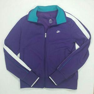 Nike Track Jacket Large Purple Teal Blue White